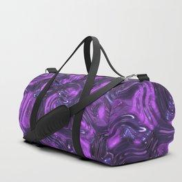 Purple Liquid Plastic Surface Duffle Bag