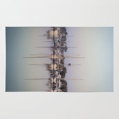 Sail Boats and Reflections in the Harbor Rug
