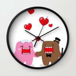 A Very Domo Wedding Wall Clock