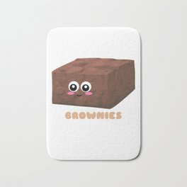 Brownies Fix Everything Funny Brownie Pun Bath Mat