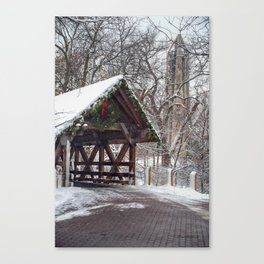 Holidays at the Riverwalk Canvas Print