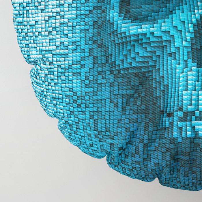 Pixel skull Floor Pillow