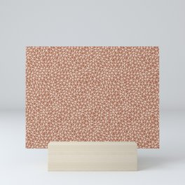 Sherwin Williams Creamy Off White SW7012 Abstract Multi Sized Triangle Shape Pattern on Cavern Clay Mini Art Print