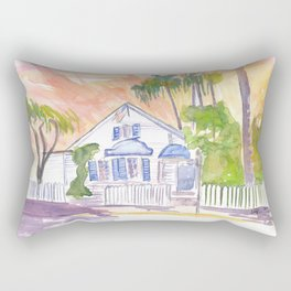 Key West Afternoon Street Scene  with Sunset Rectangular Pillow