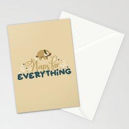 Lazy Sloths Patten Stationery Cards