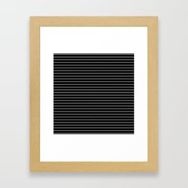 Thin White Lines - Blakc and white stripes Framed Art Print