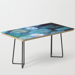 Blue Water Lilies Coffee Table