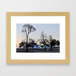 Lexington, KY horse farm Framed Art Print