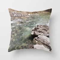 allyson johnson Throw Pillows featuring Johnson Canyon rocks by RMK Creative