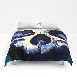 Blue Skull Comforters