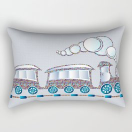 Toy Train Rectangular Pillow