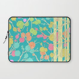 Bright Cherry Blossom Stripe Laptop Sleeve