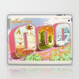 Greetings from Ooo / Adventure Postcard Laptop & iPad Skin