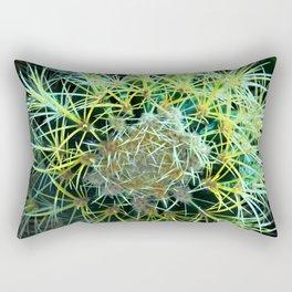 Golden Ball Cactus Rectangular Pillow