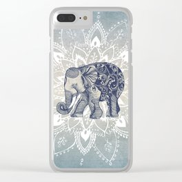 Elephant  Mandala Clear iPhone Case