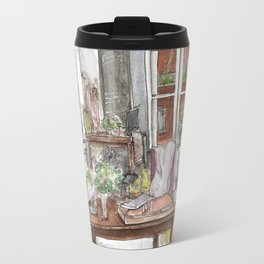 Will and Grace - Grace Adler Designs Studio Watercolor Painting Travel Mug