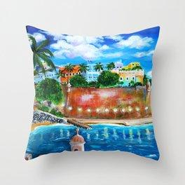 La Fortaleza, Old San Juan, Puerto Rico Throw Pillow
