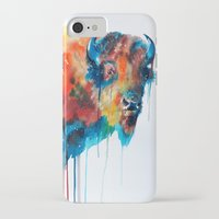 bison iPhone & iPod Cases featuring Bison by Slaveika Aladjova