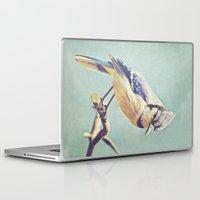 virginia Laptop & iPad Skins featuring Virginia Bluejay by Beth Thompson