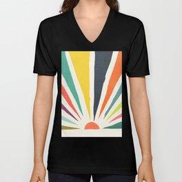 Rainbow ray Unisex V-Neck