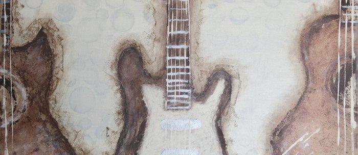 Brown Guitars  Coffee Mug