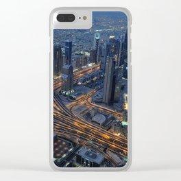 Dubai in the evening Clear iPhone Case