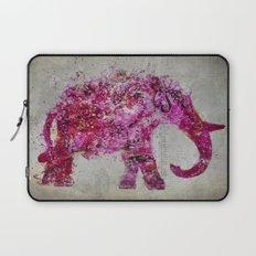 Elephant Art mixed media pink grey Laptop Sleeve