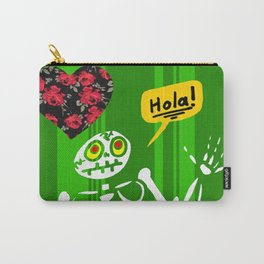 Hello Skeleton Carry-All Pouch