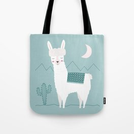 Alpaca In The Mountains Tote Bag