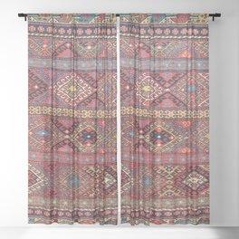 Shahsavan  Azerbaijan Northwest Persian Bag Print Sheer Curtain