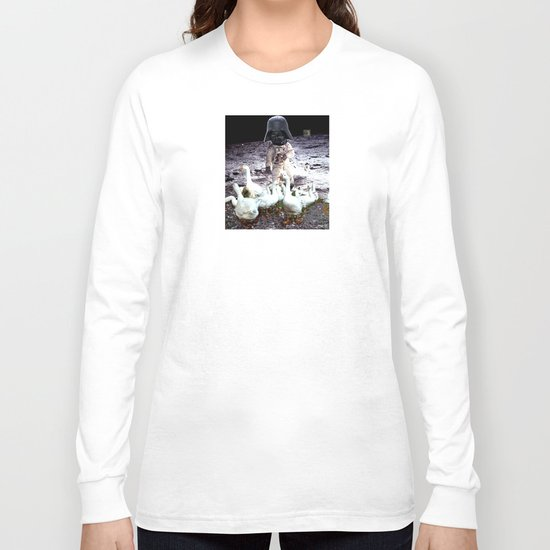 Goats Peter guards goose on the moon... Long Sleeve T-shirt