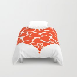 A Heart Full Of Love Red Valentine Hearts Within A Heart Duvet Cover