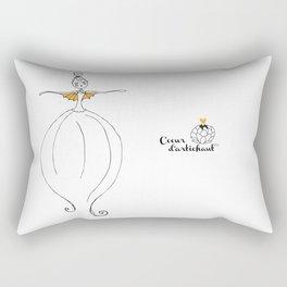 The yellow blow-fish Rectangular Pillow