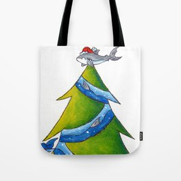 A Great White Christmas Tote Bag