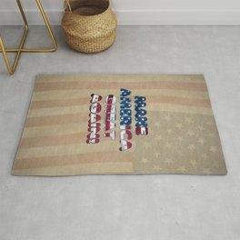 USA Flag MAKE AMERICA GREAT AGAIN typography Rug