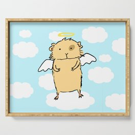 Guinea pig angel Serving Tray