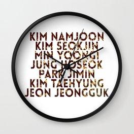 bangtan Fan Chant  Wall Clock