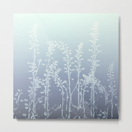 WILDFLOWERS BLUE AND PURPLE Metal Print