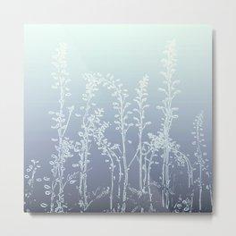 WILDFLOWERS BLUE AND PURPLE Metal Print