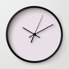 Orchid Ice and White Polka Dots Wall Clock