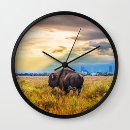 The Great American Bison Wall Clock