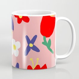 Large Handdrawn Bacchanal Floral Pop Art Print Coffee Mug