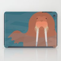 walrus iPad Cases featuring Walrus by AlanDalby