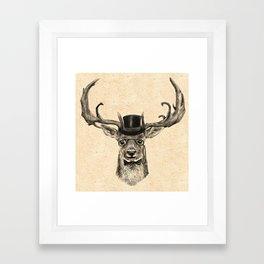 Mr Deer Framed Art Print
