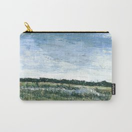Pallet Knife Painting of the Baker Wetlands with greens and blues. Carry-All Pouch