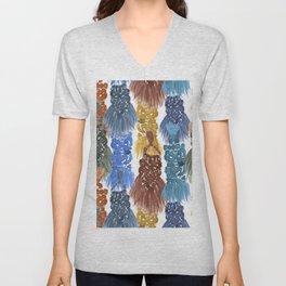 Macrame Tapestry Weavings Unisex V-Neck