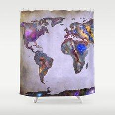 Stars world map. Space. Shower Curtain