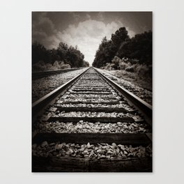 Slow train to forever Canvas Print