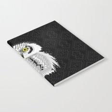 Geometric Snowy Owl Notebook