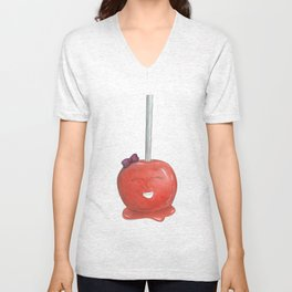 Blushing Toffee Apple Unisex V-Neck